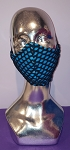 Fishnet Double Layer Mask with Elastic Ties